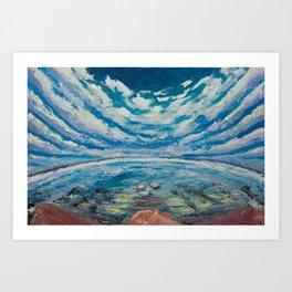 Meditation on water Art Print