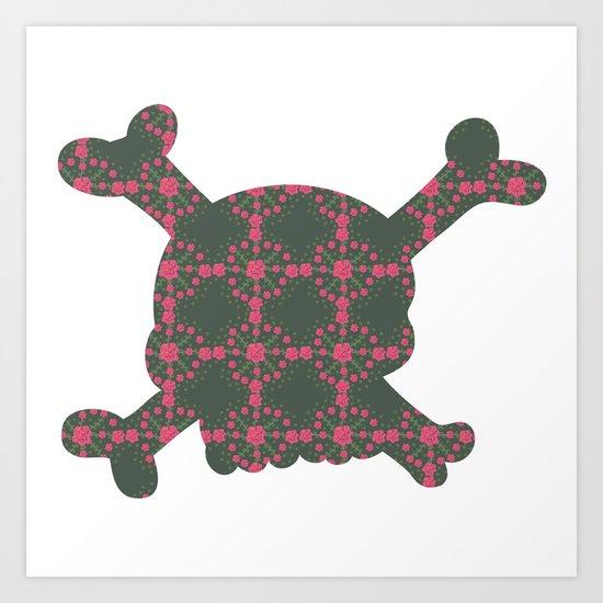 pattern with skull Art Print