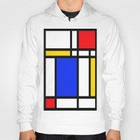 mondrian Hoodies featuring Mondrian by The Wellington Boot