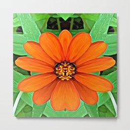 Orange Guardian Flower Metal Print