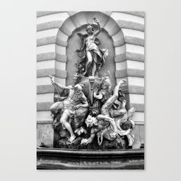 Viennese Fountain Canvas Print