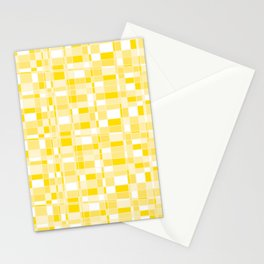 Mod Gingham - Yellow Stationery Cards