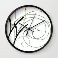 grass Wall Clocks featuring Grass by DistinctyDesign