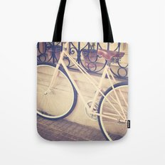 Pierina's Pink Bicycle  - Retro and Vintage Photography Tote Bag