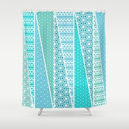 Patterned Triangles Shower Curtain