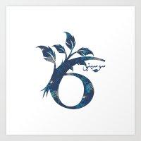 arabic Art Prints featuring S6 Arabic by Sumayyah Al Suwaidi