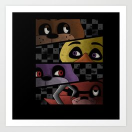 Freddy and Friends are Ready! Art Print