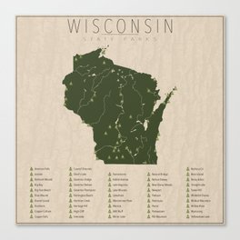 Wisconsin Parks Canvas Print