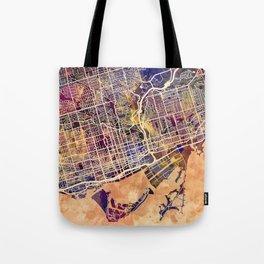 Toronto Canada Street Map Tote Bag