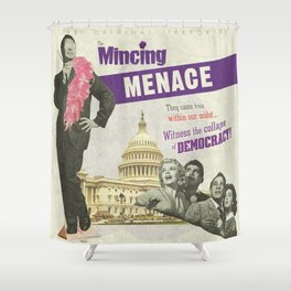The Mincing Menace Shower Curtain