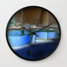 Violin (blue) Wall Clock