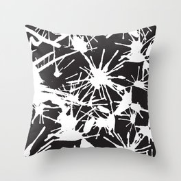 Ink Splatter 02 Throw Pillow
