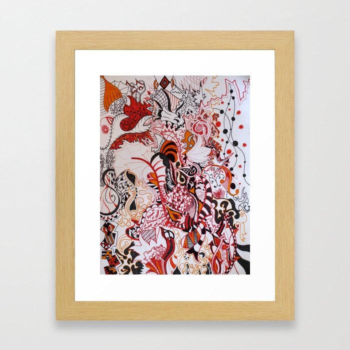 Explosive Framed Art Print
