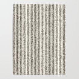 Tie Dye Stripes Charcoal Poster