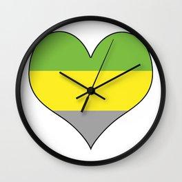 Lithromantic Heart Wall Clock