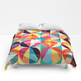 Beautiful colors Geometry, geometric abstract triangles circles squares Comforters