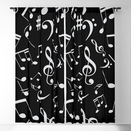 Musical Notes 20 Blackout Curtain