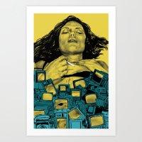 in the flesh Art Prints featuring New Flesh by Maritsa Patrinos