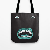 arnold Tote Bags featuring Arnold (Darkness) by ivanecky