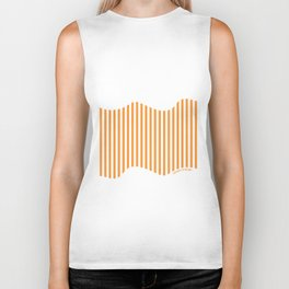 Etoide Jingga Orange Black Stripes Biker Tank