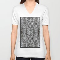 woods V-neck T-shirts featuring woods by Ichsjah