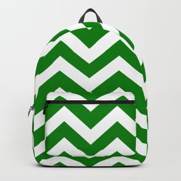 Green (HTML/CSS color) - green color - Zigzag Chevron Pattern Backpack