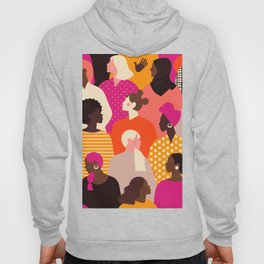 Female diverse faces  Hoody