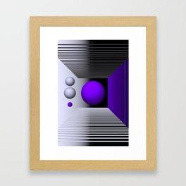 3D-geometry -3- Framed Art Print