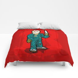 Jason Vorhees just won't stop...  EVER!  Friday the 13th is ETERNAL! Comforters
