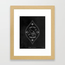 Can I Pet Your Dog – White Ink on Black Framed Art Print