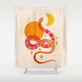 Abstraction_SUN_MOON_SNAKE_Minimalism_001 Shower Curtain