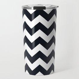 Chevrons Black & White Travel Mug