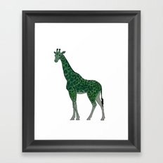 Giraffe is for Green Framed Art Print
