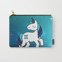 Gemini Unicorn Zodiac Carry-All Pouch