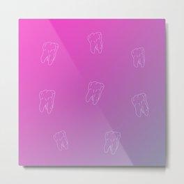 Teeth Pink flower gradient color Metal Print