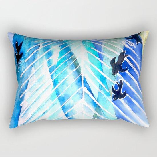 Black Birds Rectangular Pillow