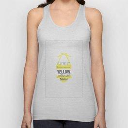 Yellow Polka Dot Bikini Unisex Tank Top