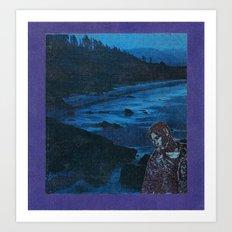 Blue, blue boy Art Print