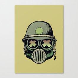 War Skull Canvas Print