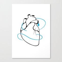 BlueHeart - Depression Canvas Print