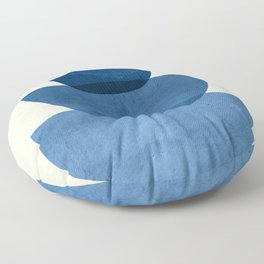 Abstract Shapes 37-Blue Floor Pillow