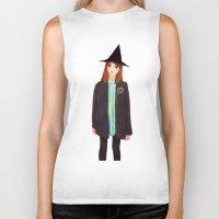 hermione Biker Tanks featuring Hermione Granger by Lenas 9th Art