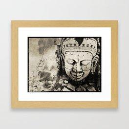 Ancient Underwater Ruins Framed Art Print