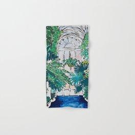 Kew Gardens Sunrise Walkway Greenhouse Jungle Painting London Hand & Bath Towel