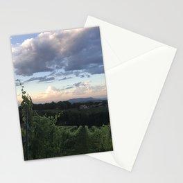 Sunset Over Vineyard of Austria Stationery Cards