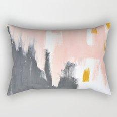 Gray and pink abstract Rectangular Pillow
