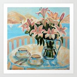 Morning coffee... Art Print