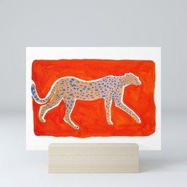 Leopard - Orange Mini Art Print