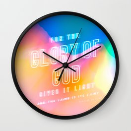 Revelation 21:23 - Glory of God Wall Clock