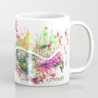 london map Mugs featuring London by Nicksman
